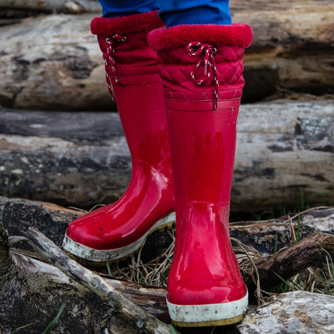 Puddleflex Wellies Red Muddy Puddles