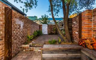 Newcastle Cooks Hill small entertainment courtyard landscape design