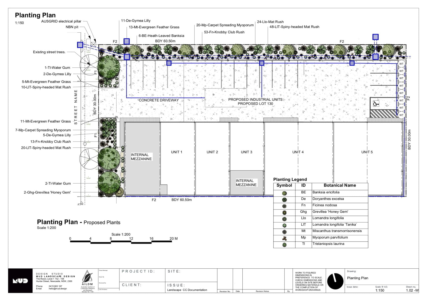 Industrial units landscape plan