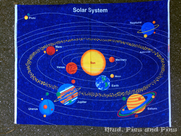 Solarsystem fabric panel | Mud, Pies and Pins