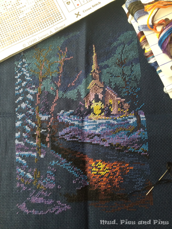 Cross stitch WiP Wednesday | Mud, Pies and Pins