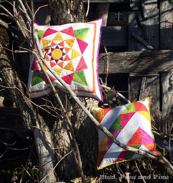 Lotus Blossom and Sun Print cushions | Mud, Pies and Pins