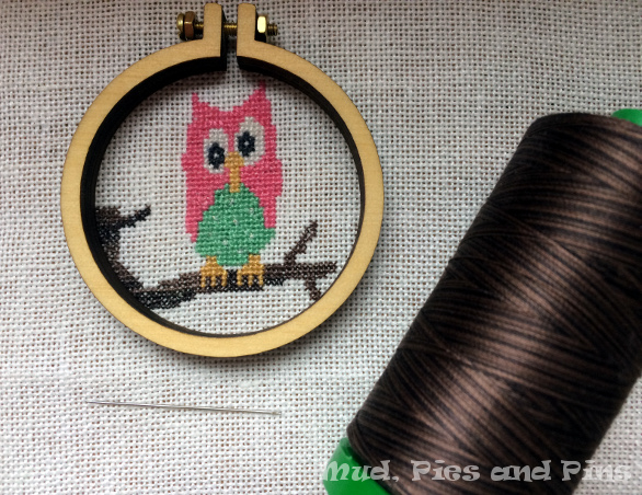 Mini hoop and mini owl cross stitch | Mud, Pies and Pins