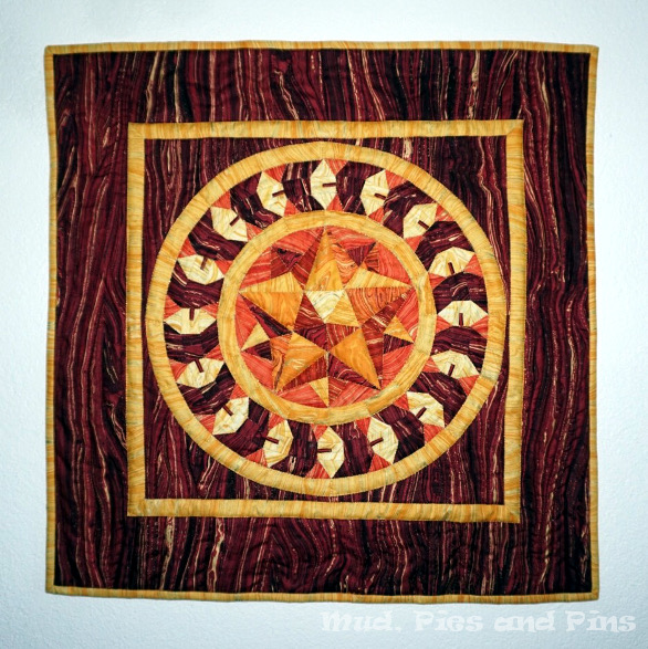 """Mosiac Marquetry"" EPP Sandscapes Challenge Quilted Wallhanging 
