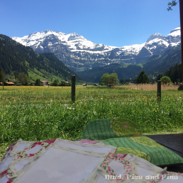 Sewing in the sun in Lenk, Switzerland | Mud, Pies and Pins