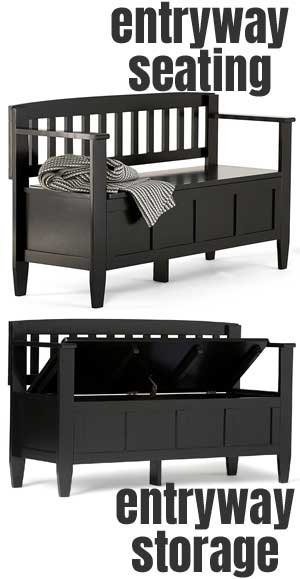 It would make a great shoe storage bench for a foyer or mud room. 5 solid wood entryway storage bench