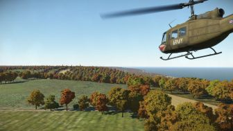 huey over trees
