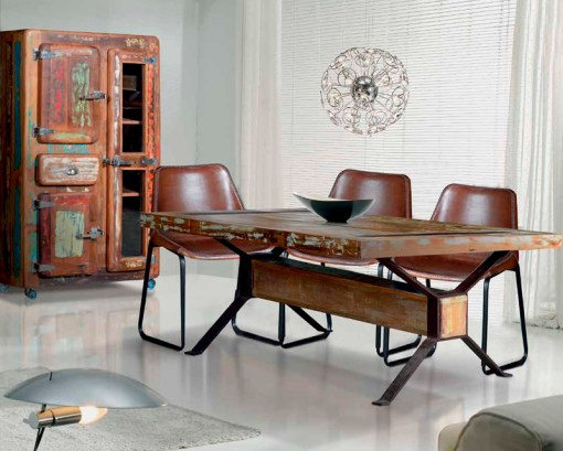 sillón industrial vintage