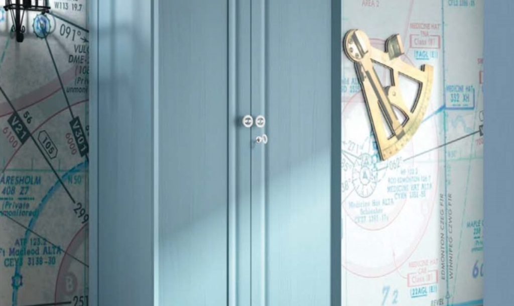 Armario Modelo Garbo Romantic en tono azul