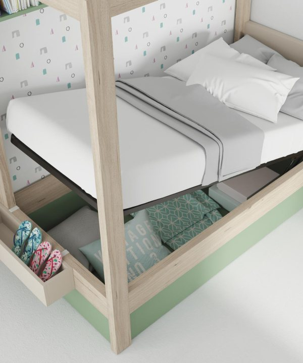 arcon abatible de cama con dosel