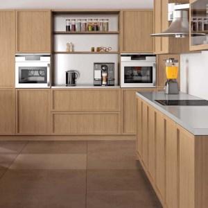 cocina de madera en roble natural