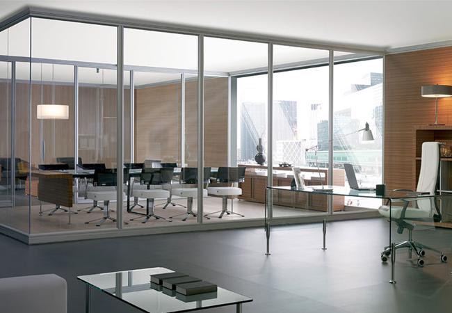 Crear despachos en una oficina con mamparas