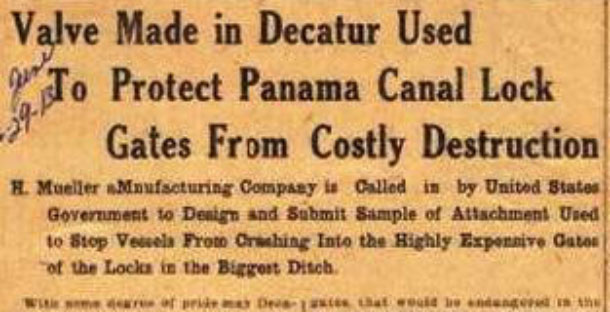 aValve Made in Decatur Used to Protect Panama Canal Lock Gates From Costly Destruction