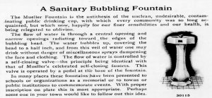 A Sanitary Bubbling Fountain catalog advertisement