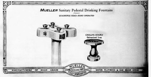 Mueller Sanitary Pedestal Drinking Fountain