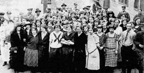 Historic photo of Mueller Co Female Employees