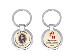 First 100 visitors key ring