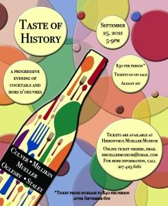 Taste of History Event Poster, September 25, 2021