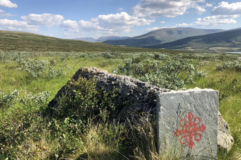 Olavsweg Norwegen Dovrefjell Markierung