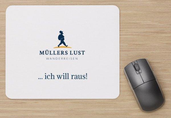 Mousepad mit Logo Müllers Lust Wanderreisen