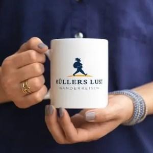 Tasse mit Logo Müllers Lust Wanderreisen