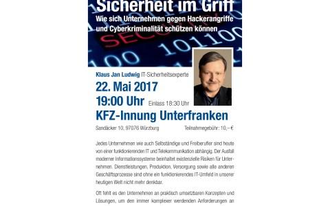 Vortrag über Schutz vor Hackerangriffen und Cyberkriminalität