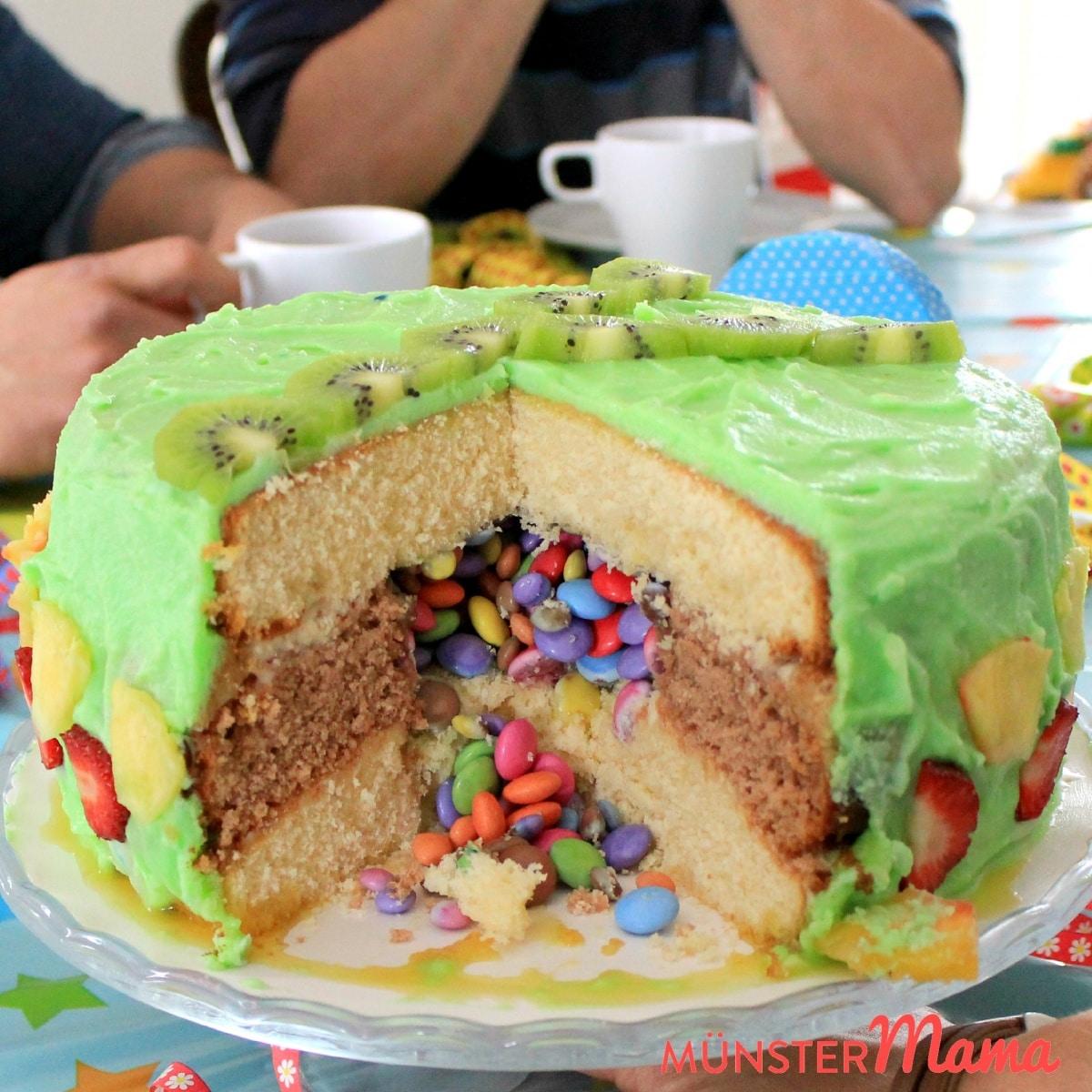 [gebacken] Geburtstagstorte - Surprise Inside - Das Rezept