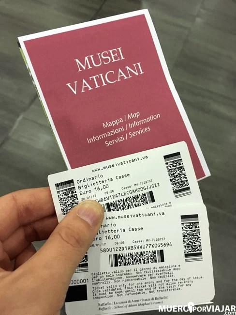 La entradas a los Museos Vaticanos, recomendamos comprarlas con antelación