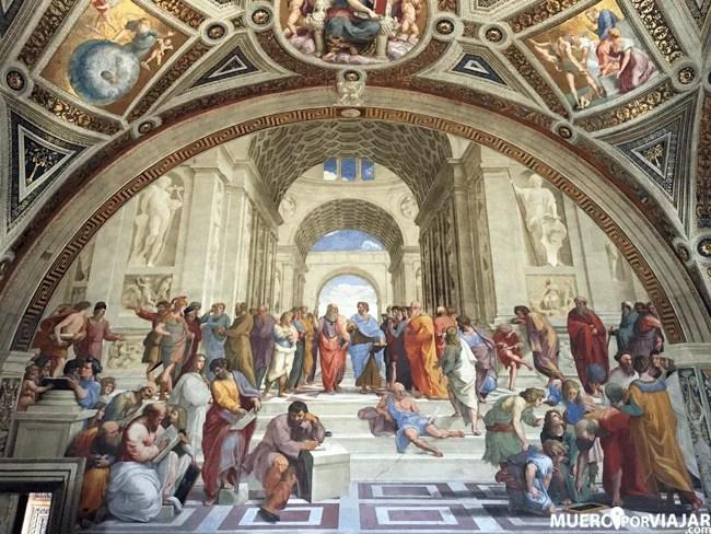 La famosa Escola de Atenas de Rafaello Sanzio