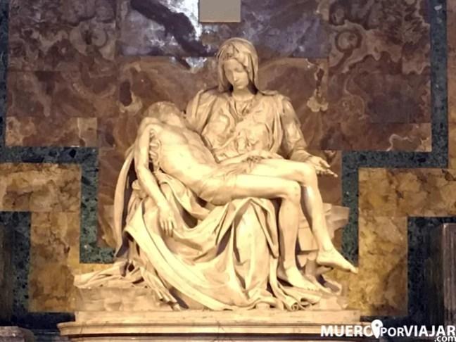 La pietá de Miguel Angel es la escultura más fotografiada