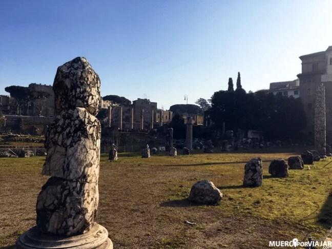 El foro romanos era el punto de reunión de la elite política del Imperio Romano