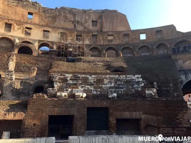 Los asientos del Coliseo de Roma reservados a los senadores