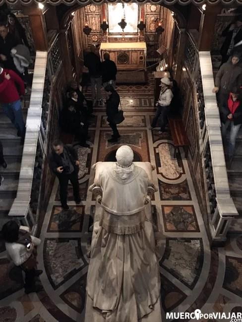 Cripta del Papa Pio IX en Santa Maria Maggiore en Roma