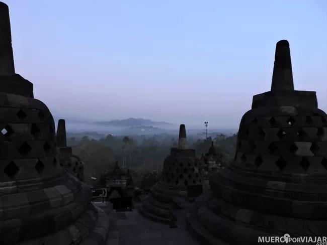 Vivir el amanecer en Borobudur es impresionante