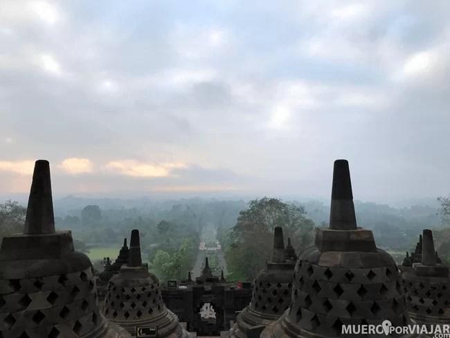 Amaneciendo en Borobudur