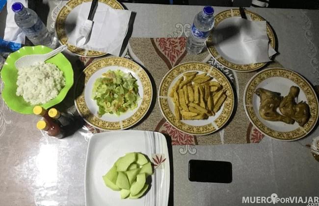 Siempre nos tenían la comida preparada, comimos mucho y muy bien!