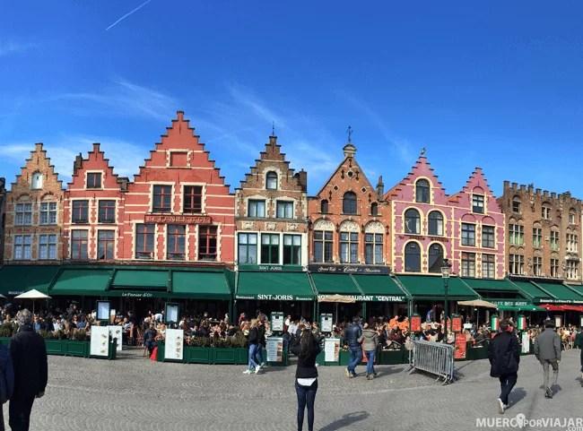 La preciosa Grote Markt de Brujas