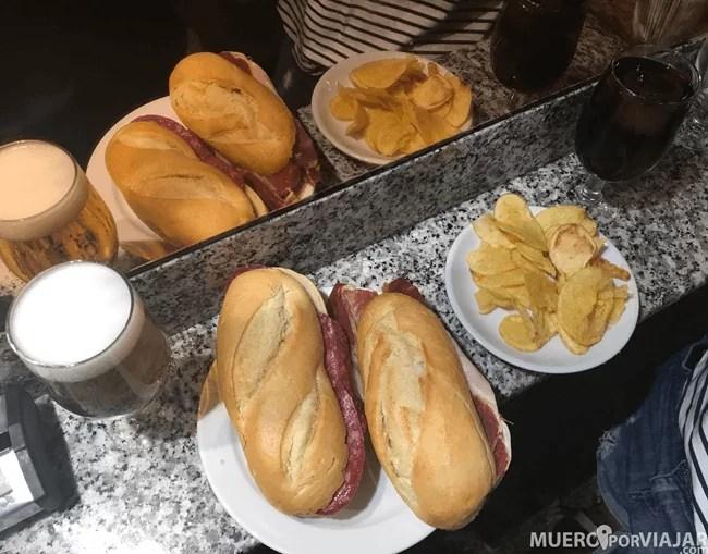 Nuestros bocadillo en el Museo del Jamón