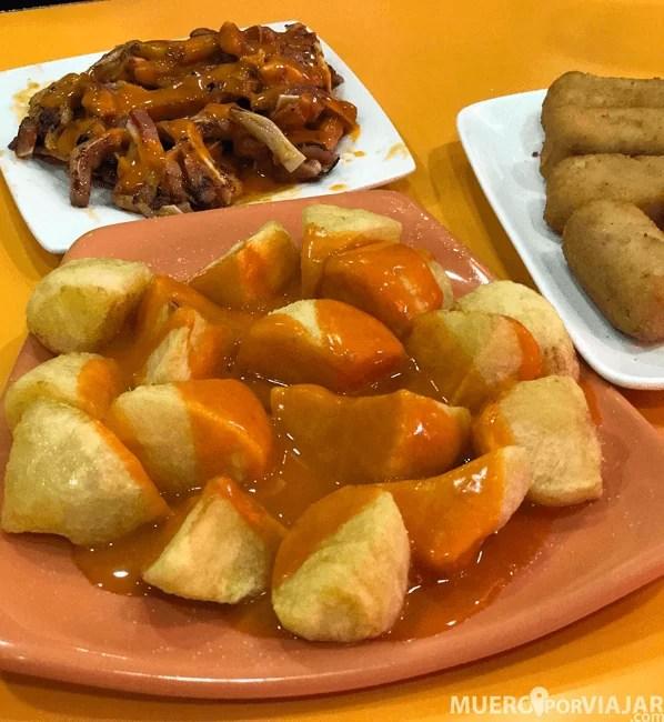 las autenticas patatas bravas con la salsa original de Las Bravas