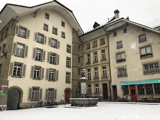 La preciosa Rathausplatz nevada