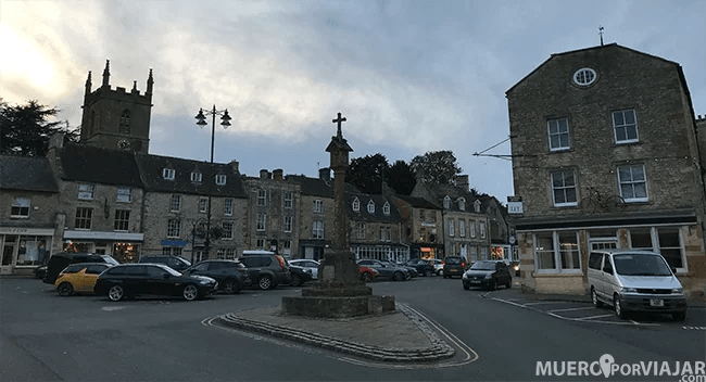 La plaza de Stow-on-the-wold muy bonita