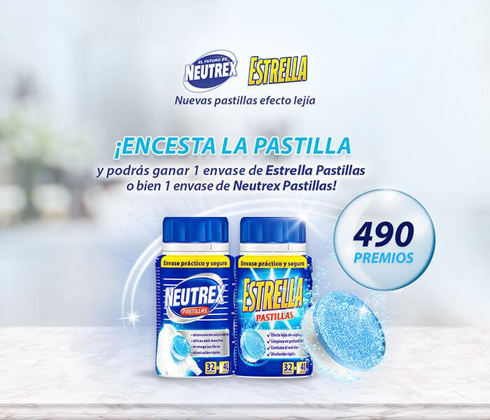 """Sorteo productos de limpieza """"Neutrex y Estrella"""""""