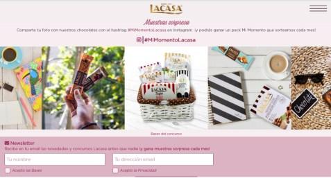 muestras gratis Chocolates La Casa