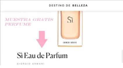 muestras gratis perfume giorgio armani