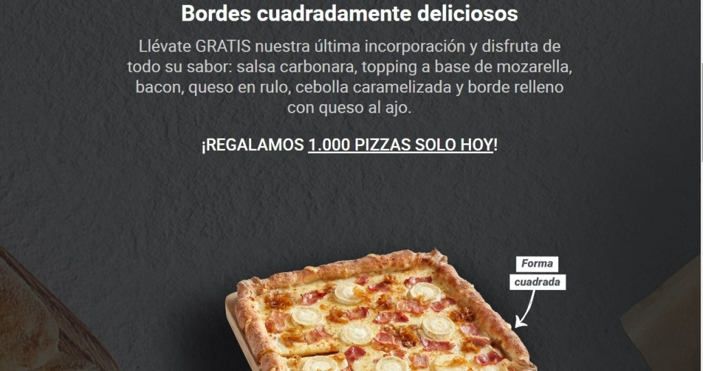 pizza gratis Telepizza