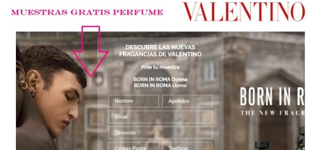 muestras gratis valentino