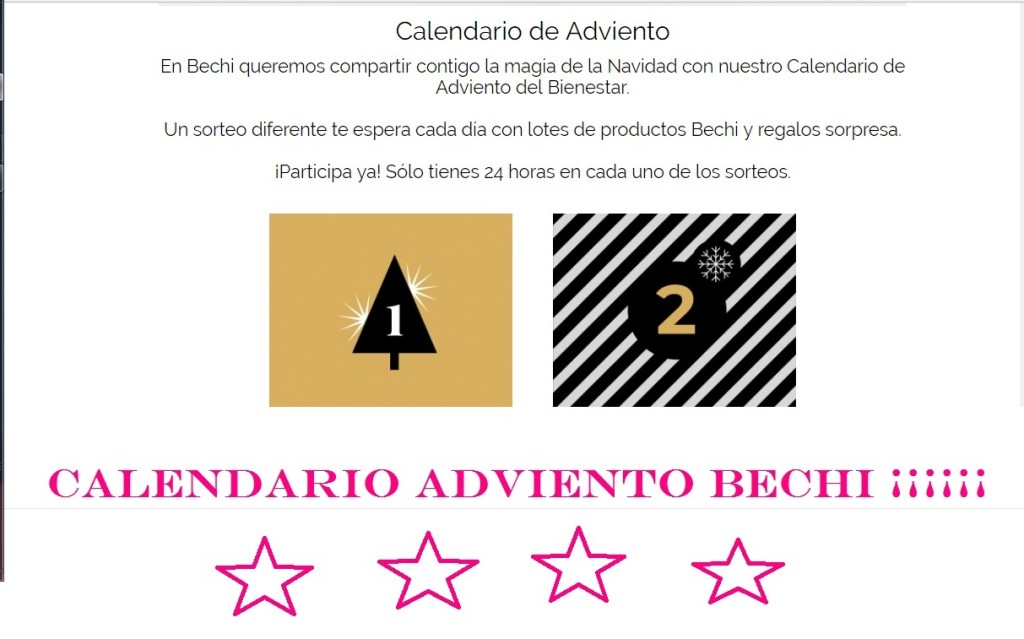 calendario adviento bechi