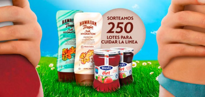 sorteo 250 lotes hero diet y hawaiian tropic