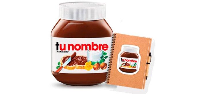 consigue tus adhesivos Nutella