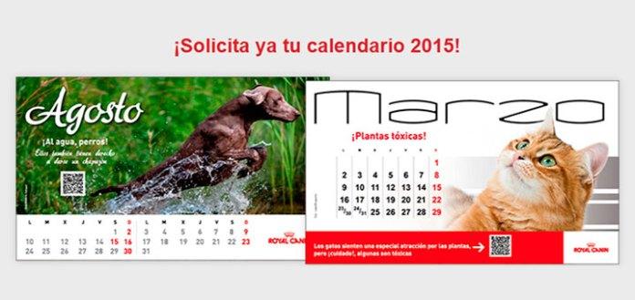 calendario gratis 2015 con royal canin